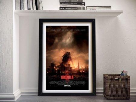 Godzilla Framed Film Poster Canvas Art