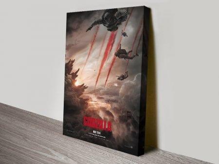 Affordable Godzilla Film Poster on Canvas