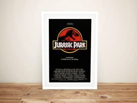 Jurassic Park Movie Poster on Canvas