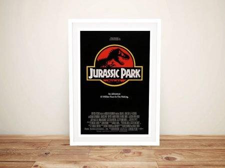 Jurassic Park Movie Poster on Canvas