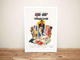 Live and Let Die Framed Vintage Poster Live and Let Die Framed Vintage Poster