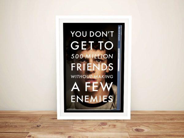 Framed Social Network Movie Poster