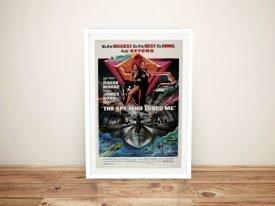 The Spy Who Loved Me Framed Bond Poster