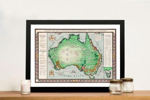 Framed & Affordable Vintage Map of Oz