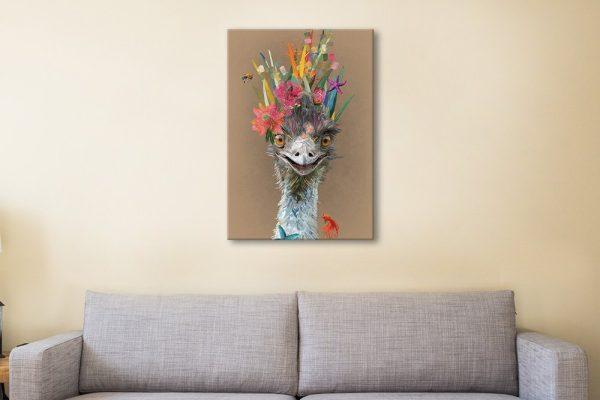 Abstract Emu Ready to Hang Karin Roberts Art