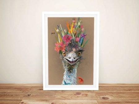 Abstract Emu Framed Contemporary Artwork
