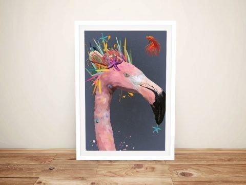 Karin Roberts Abstract Flamingo Canvas Art