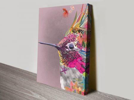 Abstract Hummingbird Quality Canvas Art
