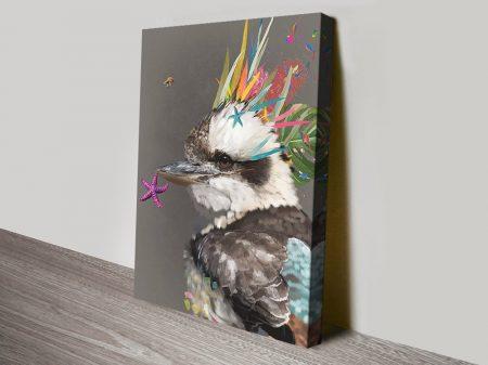 Buy an Abstract Kookaburra Canvas Print