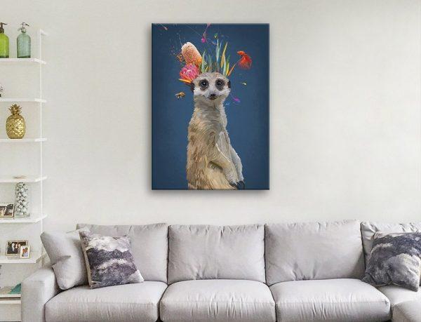 Abstract Meerkat Cute Home Decor Ideas AU