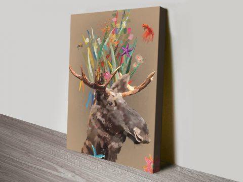 Abstract Moose Fun Kids Wall Art Cheap Online