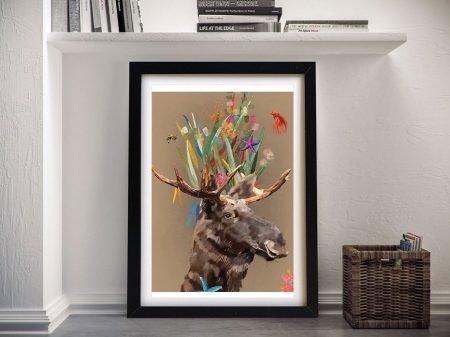 Framed Abstract Moose Karin Roberts Art