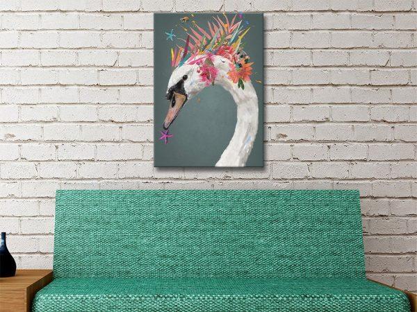 Abstract Swan Cute Kids Art Cheap Online