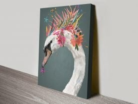 Buy Abstract Swan Colourful Canvas Art
