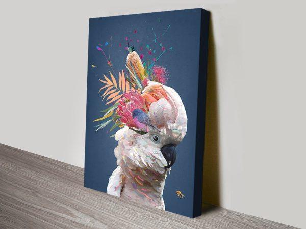 Abstract White Cockatoo Kids Art Ideas AU