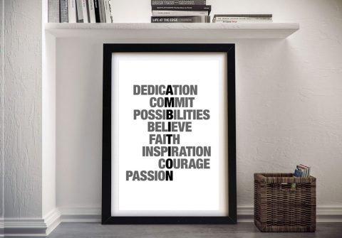 Buy Ambition Framed Inspirational Artwork