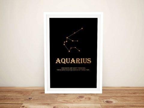 Ready to Hang Framed Aquarius Art Print