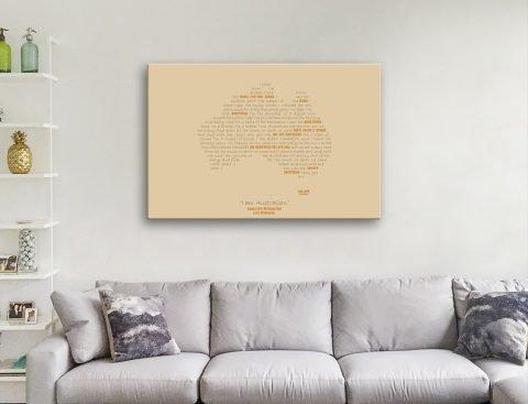 Unique Custom Typographic Maps AU