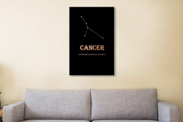 Black & Gold Inspirational Star Signs Art