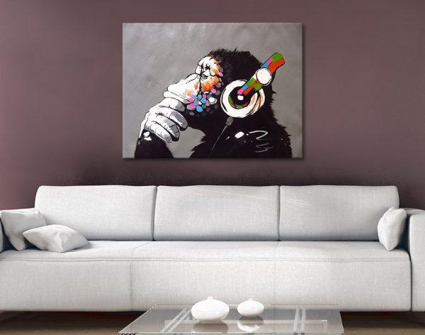 Banksy DJ Monkey Wall Art