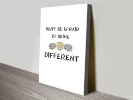 Buy Different Motivational Canvas Art