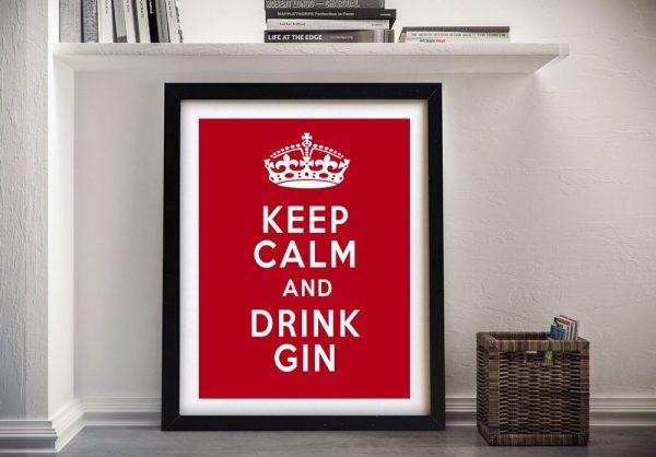 Keep Calm & Drink Gin Framed Artwork