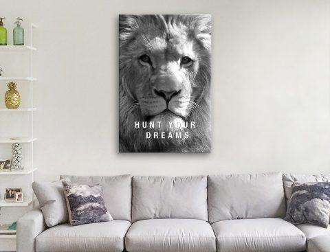 Ready to Hang Lion Art Office Decor Ideas AU