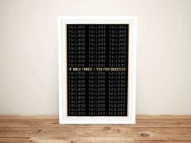 Buy a Framed It Only Takes 1 Art Print