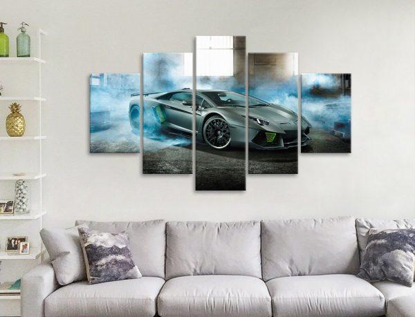 Lamborghini Sports Car 5-Panel Art