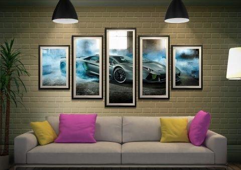 Lamborghini 5 Piece Framed Wall Art