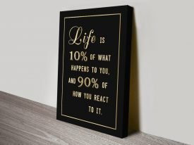 Life Is Motivational Typographic Wall Art