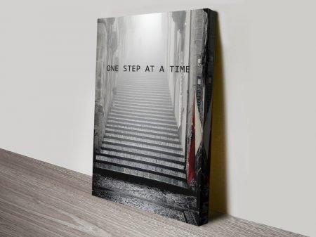 One Step Inspiring Canvas Wall Art