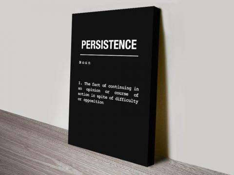 Persistence Black & White Inspirational Art