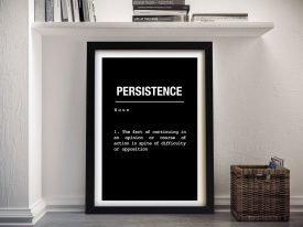 Persistence Framed Motivational Print