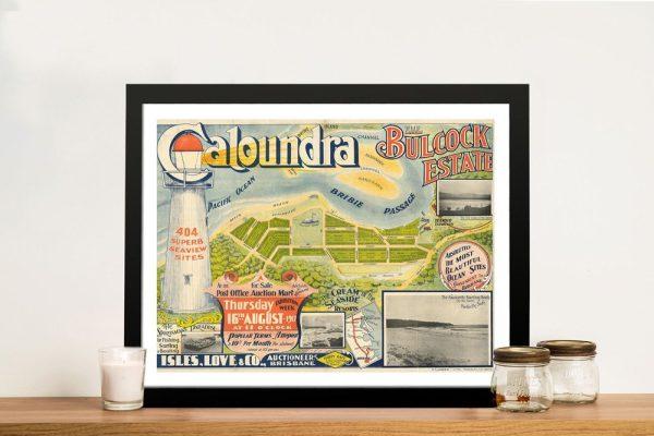 Framed Vintage Caloundra Advertising Art