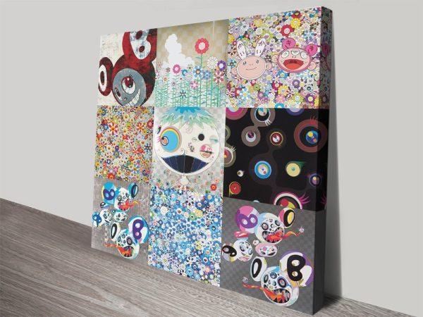 Contemporary Murakami Collage Print on Canvas