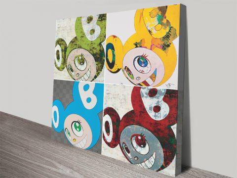 Takashi Mr Dob Collage on Canvas for Sale