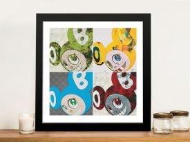 Murakami Mr dob Framed Collage Print