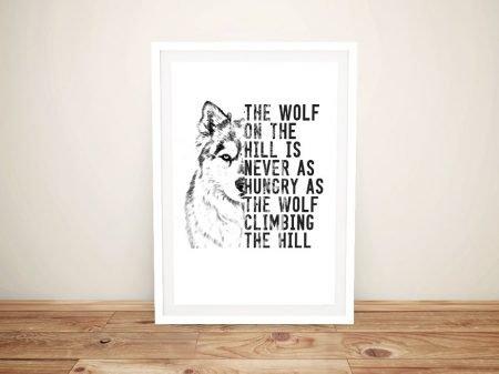 The Wolf Framed Motivational Wall Art