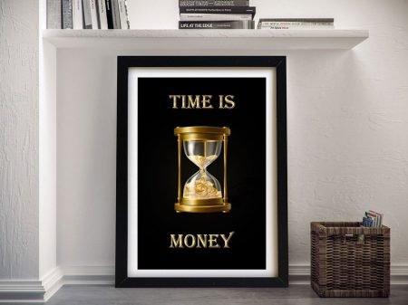 Time is Money Framed Motivational Art