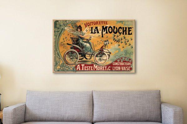 Voiturette La Mouche Wall Art Home Decor AU
