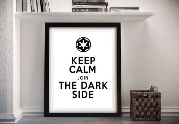 Buy a Framed Keep Calm Dark Side Poster