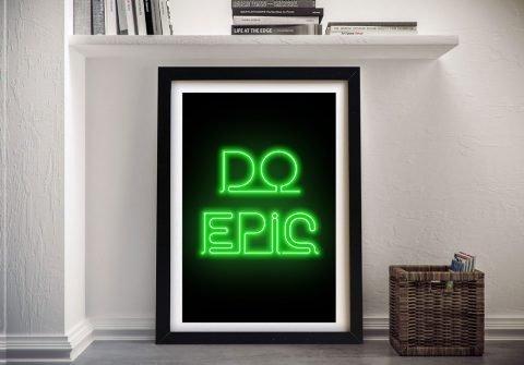 do epic motivational wall art