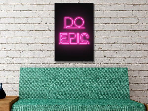 do epic motivational pink canvas artwork