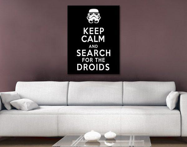 Keep Calm Monochrome Star Wars Art