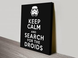 Keep Calm & Search For The Droids Poster