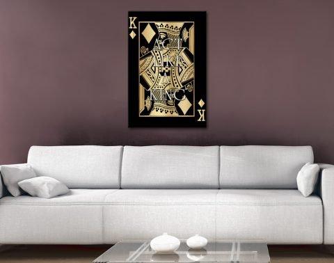 Black & Gold Playing Card Motivational Art