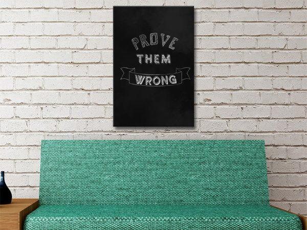 Prove Them Wrong Blackboard Style Art