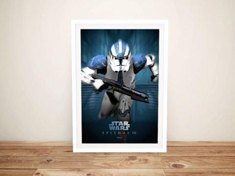 Framed Star Wars Episode lll Poster for Sale
