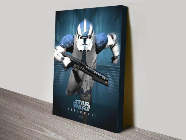 Star Wars Stormtrooper Art on Canvas